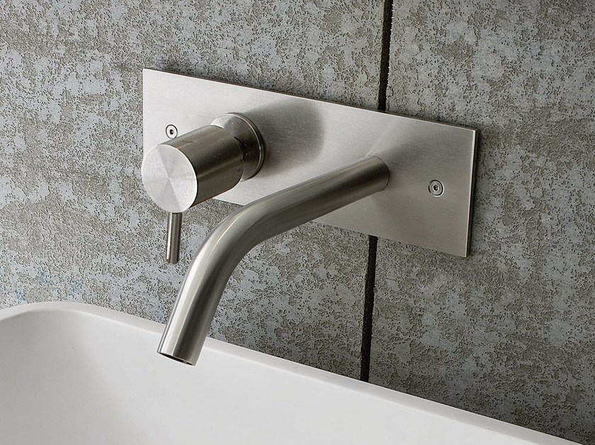 Wall-mounted chrome-plated washbasin mixer BREZZA | Wall-mounted washbasin mixer - Rexa Design