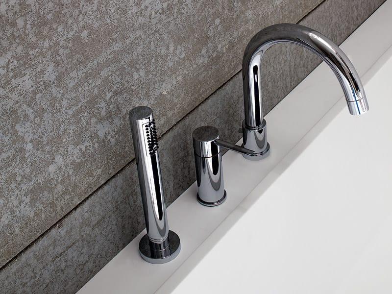 3 hole bathtub set with hand shower LIBE | Bathtub set - Rexa Design