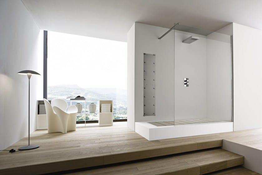 Vasca da bagno in korakril con doccia da incasso unico - Vasca doccia da bagno ...