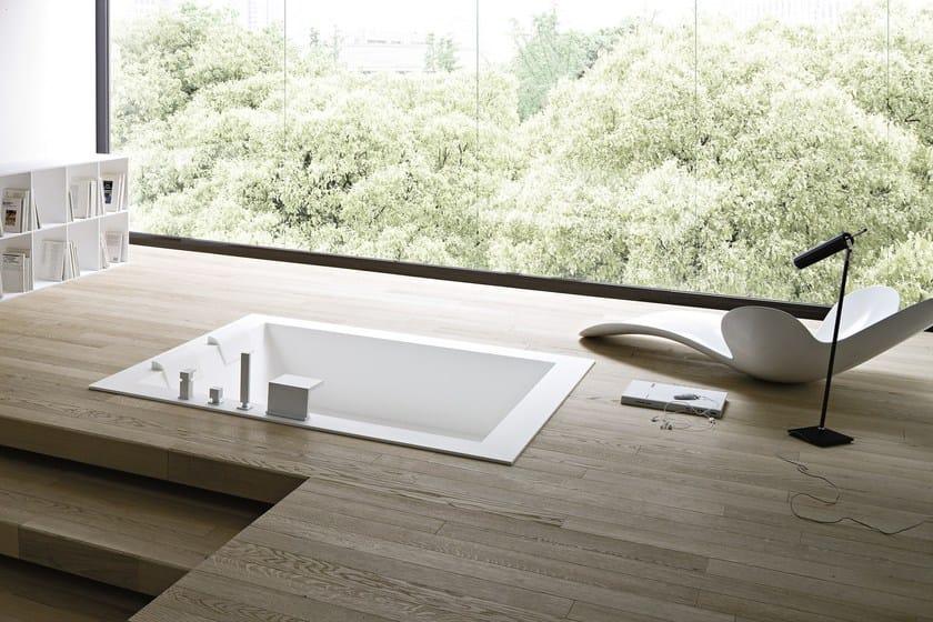 Vasca da bagno centro stanza in corian da incasso unico vasca da bagno da incasso rexa design - Vasca da bagno incasso prezzi ...