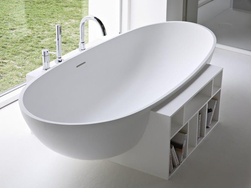 Vasca da bagno centro stanza ovale in korakril egg collezione unico by rexa design design - Vasca da bagno ovale ...