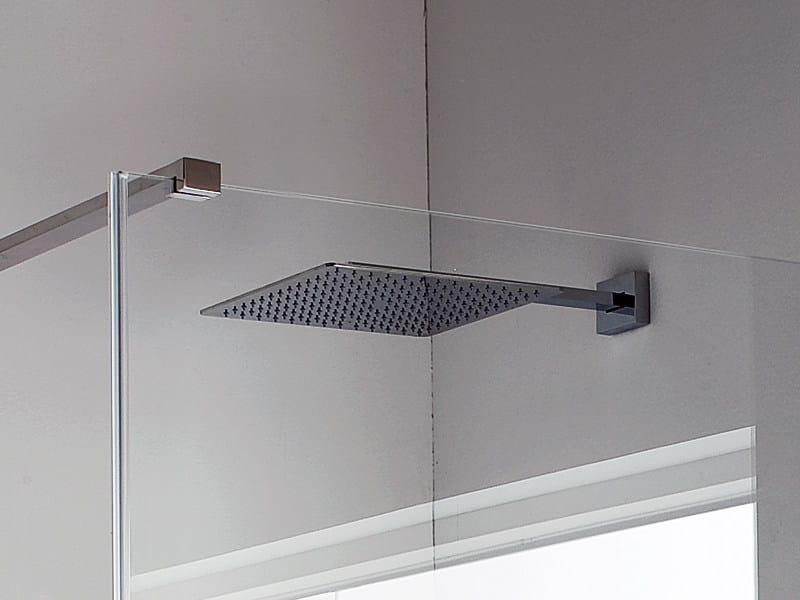 Soffione a muro con braccio collezione leva by rexa design - Soffione della doccia ...