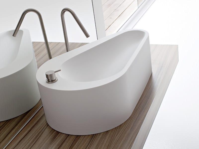 Countertop Korakril™ washbasin with integrated countertop BOMA | Countertop washbasin - Rexa Design