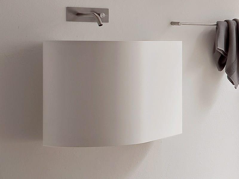 Wall-mounted Korakril™ washbasin BOMA | Wall-mounted washbasin - Rexa Design