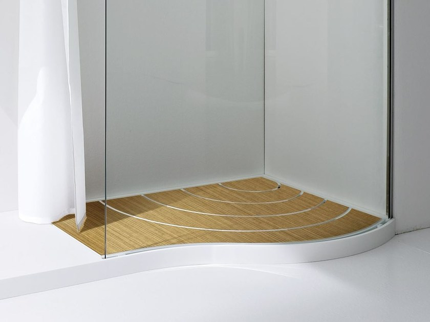 Anti-slip teak shower tray BOMA | Teak shower tray - Rexa Design