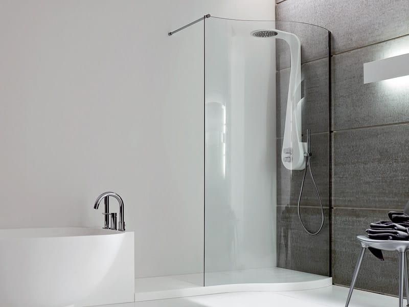 Corner shower cabin with tray BOMA | Shower cabin - Rexa Design