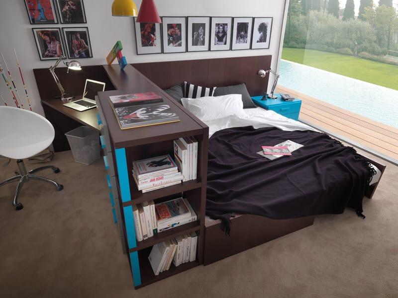 Compact scrivania in legno by dearkids for Dearkids letti prezzi