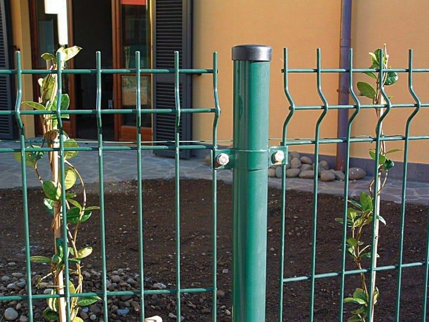 Recinzione modulare in rete elettrosaldata medium verde for Pannelli recinzione giardino