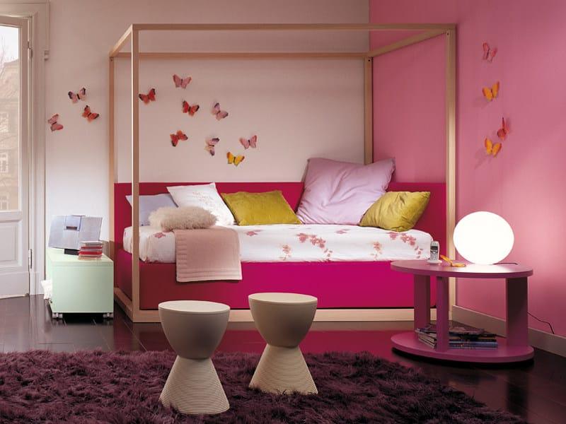 Lit Baldaquin Bois Massif : Colorful Kids Bedroom Designs