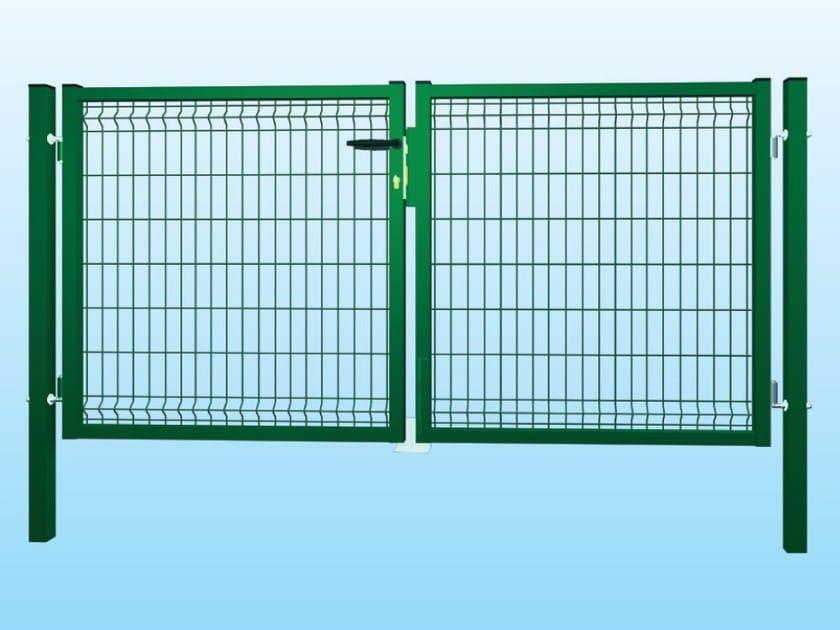 Recinzione modulare in rete elettrosaldata eco verde for Rete stirata per cancelli