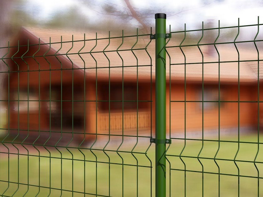 Recinzione modulare in rete elettrosaldata eco verde for Pannelli recinzione giardino