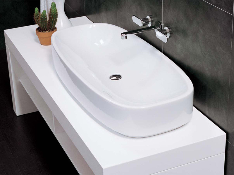 Countertop ceramic washbasin STEP by CERAMICA FLAMINIA