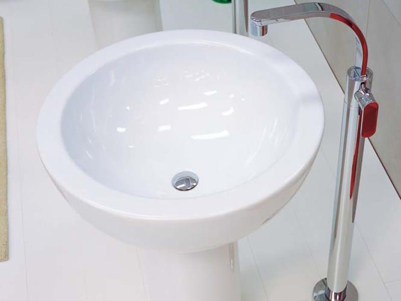 Freestanding ceramic washbasin FONTE - CERAMICA FLAMINIA