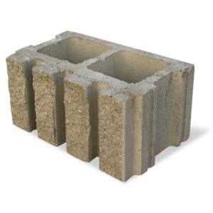 External masonry block in concrete SPLITTATO CANNELLATO - M.v.b.