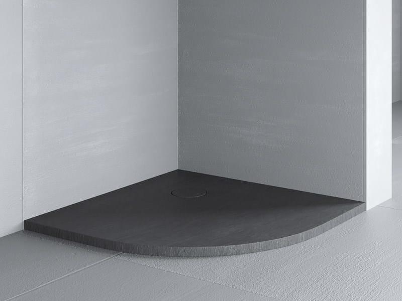 Corner extra flat shower tray RAZOR | Corner shower tray - Glass 1989