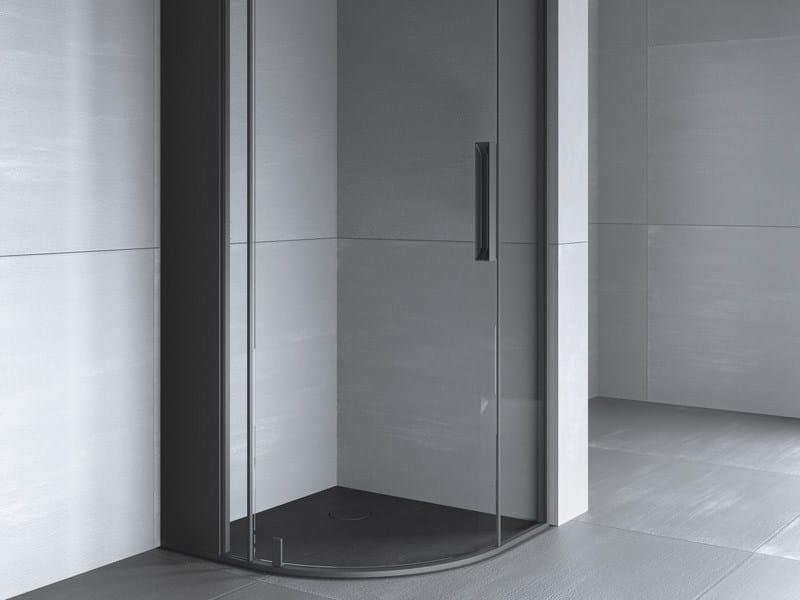 Piatto doccia angolare filo pavimento razor piatto for Douche italienne angle