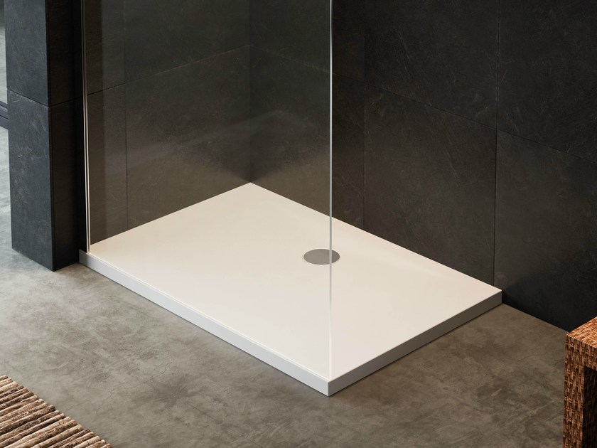 Rectangular extra flat shower tray SUITE | Rectangular shower tray - Glass 1989