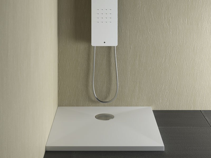 Square extra flat shower tray SUITE | Square shower tray - Glass 1989