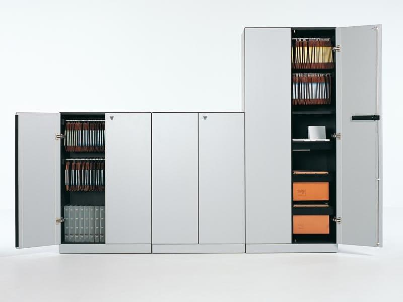 Mobile ufficio in alluminio con serratura collezione h2o for Mobile ufficio con serratura
