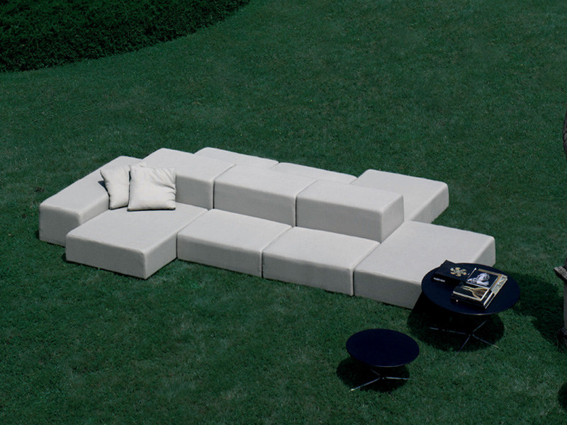 Sectional upholstered garden sofa EXTRA WALL | Garden sofa - Living Divani
