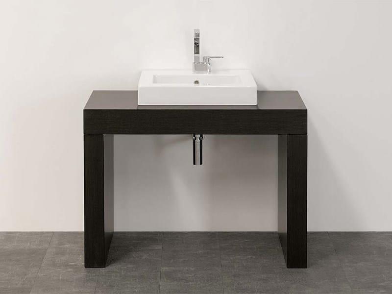 encimera de lavabo simple de madera bridge encimera de lavabo de madera ceramica flaminia