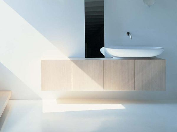 Wall-mounted vanity unit with doors SIMPLE | Wall-mounted vanity unit - CERAMICA FLAMINIA