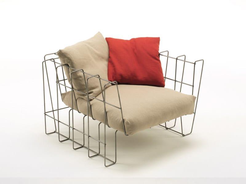 Steel garden armchair HOOP | Armchair - Living Divani