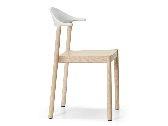 Stackable ash chair MONZA | Chair - Plank
