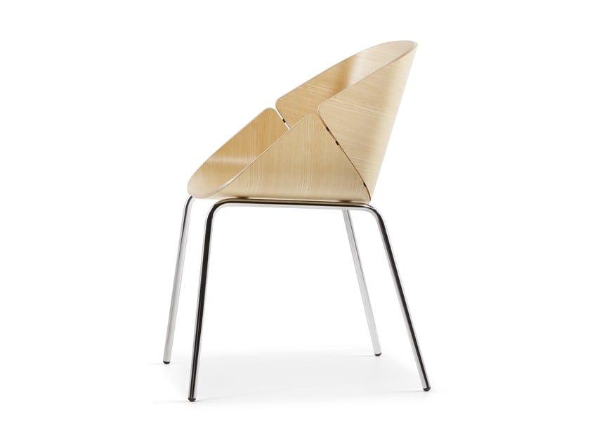 Ergonomic wooden chair BABÁ - Plank