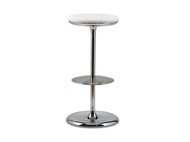 High upholstered steel stool FRISBI - Plank