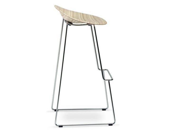 High sled base stool STELLA - Plank