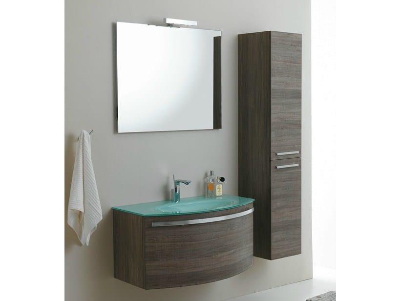 Meuble sous vasque mural avec rangement madison 5 - Mobili bagno self ...