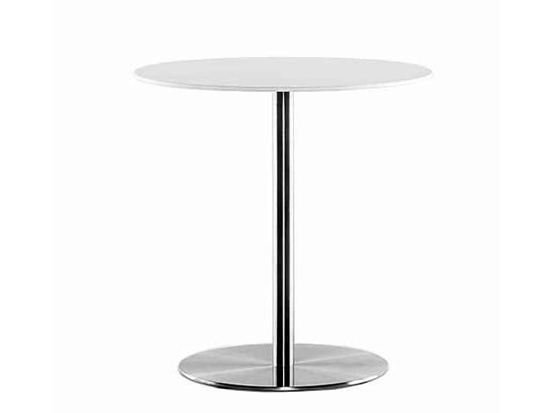 Round steel coffee table SLIM | Coffee table - Plank