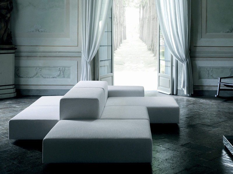 Sectional sofa with removable cover EXTRA WALL | Sofa - Living Divani