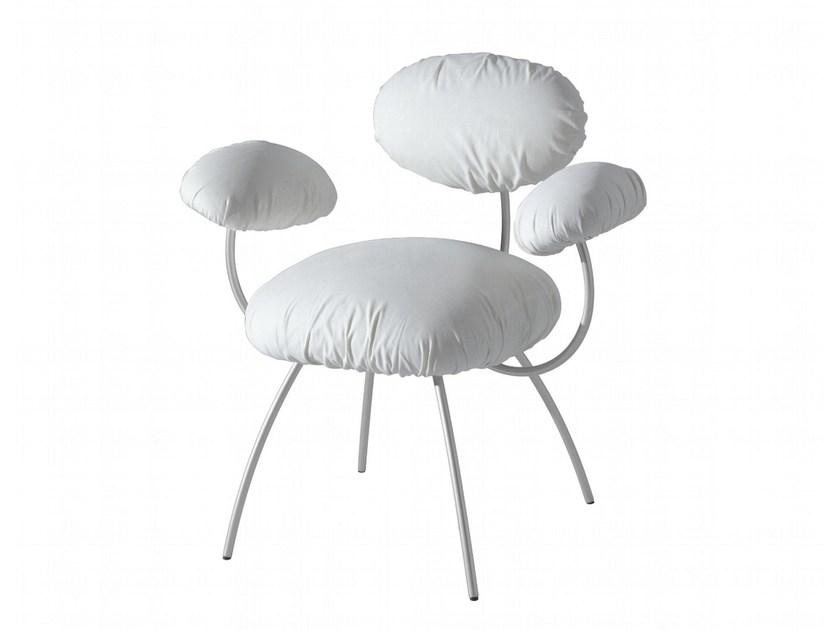 Upholstered chair with armrests SAINT JAMES - ROSET ITALIA