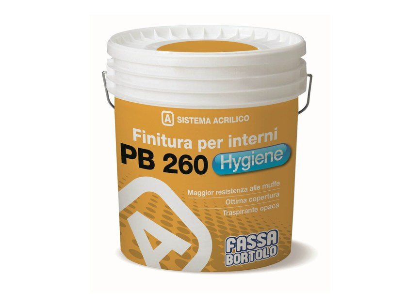 Breathable water-based paint PB 260 HYGIENE - FASSA