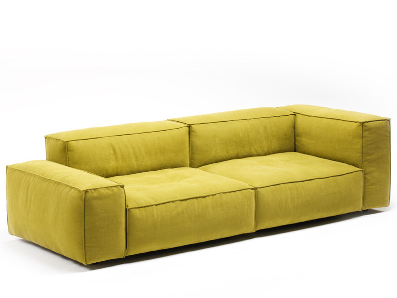 Sectional sofa with removable cover NEOWALL by Living Divani