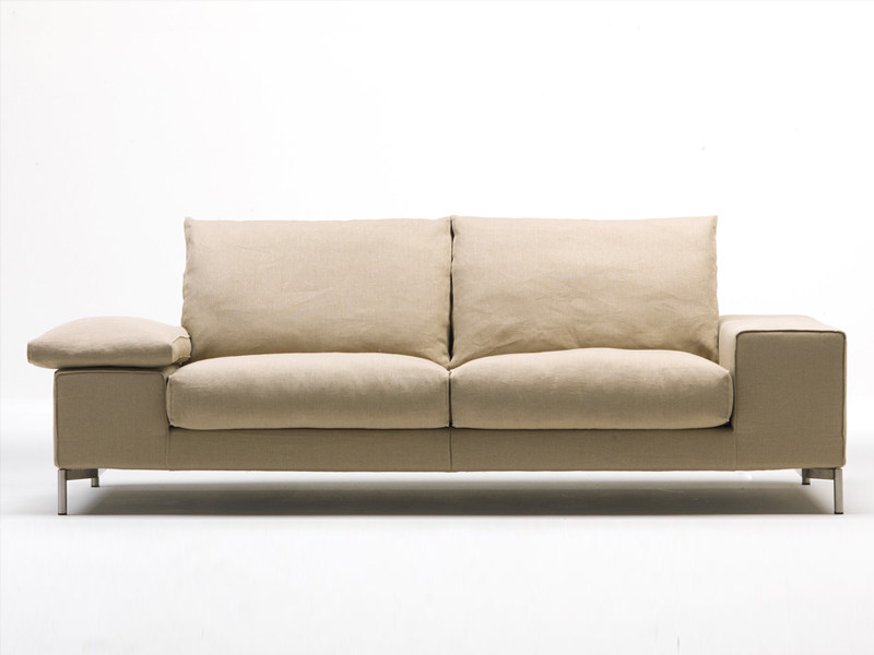 Fabric sofa with removable cover TWICE - Living Divani