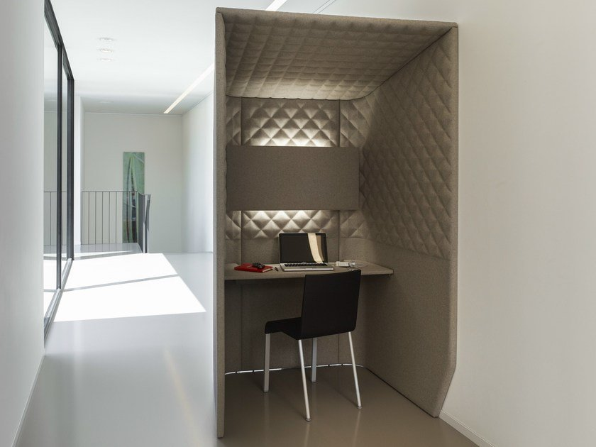 Acoustic fabric phone booth BUZZIBOOTH - BuzziSpace
