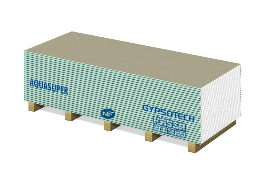 Moisture resistant gypsum plasterboard GYPSOTECH® AQUA SUPER TIPO DH1 - FASSA