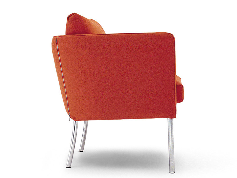 Upholstered fabric easy chair with armrests CAFÉ SOFT by Living Divani