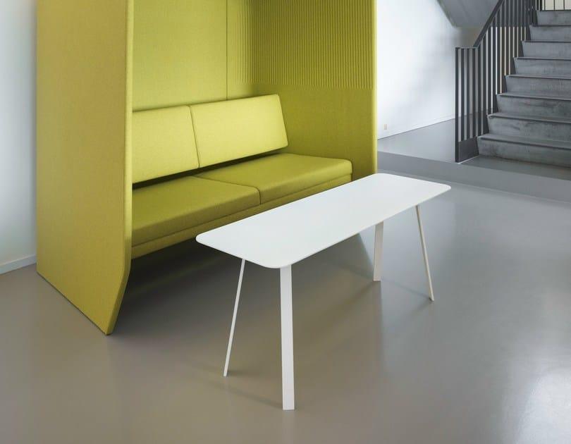 Aluminium coffee table BUZZIHUB TABLE - BuzziSpace
