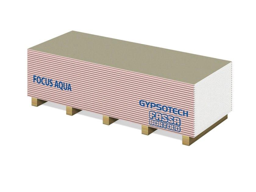 Fireproof gypsum plasterboard GYPSOTECH® FOCUS AQUA TIPO DFH2 - FASSA