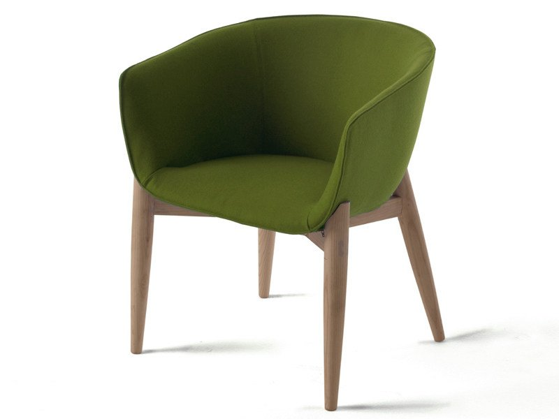 Upholstered chair with removable cover LULEA - Living Divani