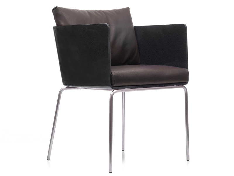 Polyurethane chair with armrests POD + POD SPEED | Chair - Living Divani