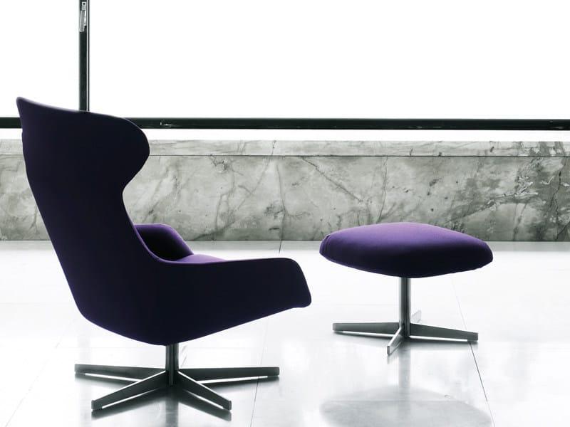 Swivel upholstered armchair READER | Swivel armchair - Living Divani
