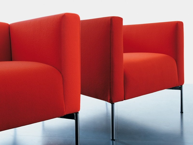 Upholstered armchair with armrests TWIN | Armchair - Living Divani