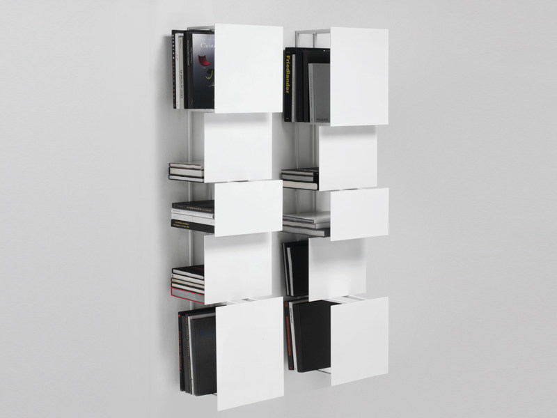 Wall-mounted steel bookcase BUKVA - Living Divani