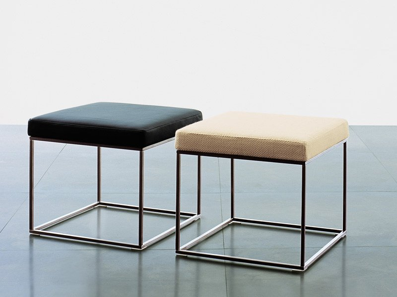 Low steel stool ILE | Low stool by Living Divani