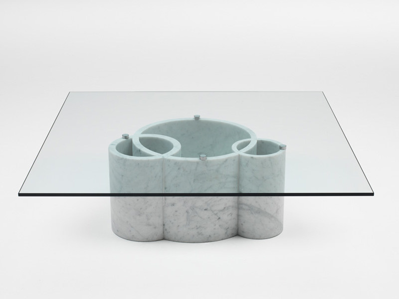 Crystal coffee table TUBE | Coffee table by Living Divani